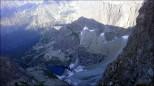 Spojrzenie do Ciężkiej Doliny z Przełączki pod Rysami (2470 m n.p.m.) - sierpień 2014