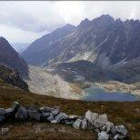 Mięguszowiecka Przełęcz pod Chłopkiem (2307 m n.p.m.) - widok w kierunku południowym - sierpień 2012