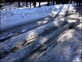 Zacieniony odcinek szlaku w Dolinie Chochołowskiej - kwiecień 2012