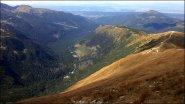 Widok z Wołowca w kierunku Rahackiej Doliny - wrzesień 2012