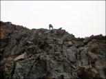 Orla Perć - strome przejście między Skrajną Sieczkową Przełączka a Pośrednim Granatem - lipiec 2013