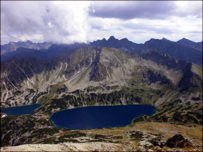 Orla Perć - Kozi Wierch (2291 m n.p.m.) - widok w kierunku południowym - sierpień 2013