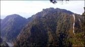 Pieniny - spojrzenie z Czertezika (772 m n.p.m.), w tle widoczne Przełom Dunajca, Łysina, Trzy Korony, Ostry Wierch, Zamkowa Góra, a w oddali Tatry - 6 października 2013