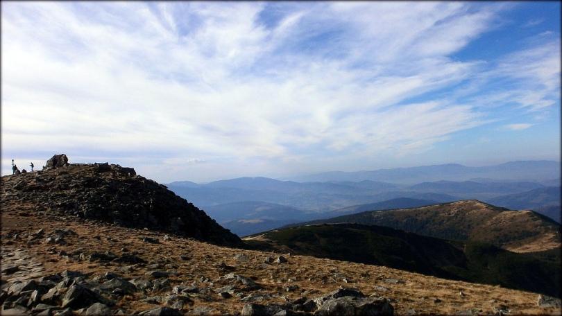 Beskid Żywiecki - spojrzenie na Diablaka, Kościółki i masyw Małej Babiej Góry - 22 października 2013