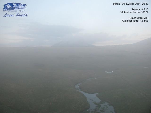 Obraz z kamery internetowej na Równi pod Śnieżką [Karkonosze] - 30 maja 2014